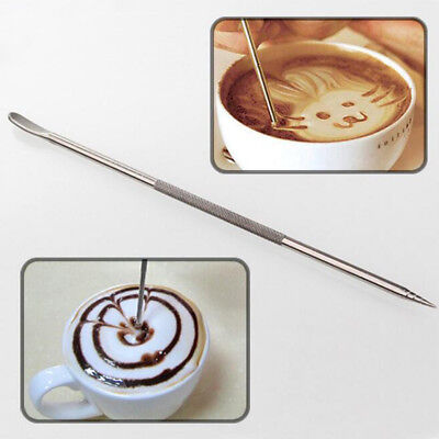 1Pc Useful Stainless Steel Barista Cappuccino Latte Espresso Coffee Decorating