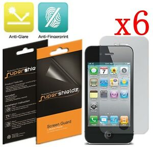 6X Anti Glare Matte LCD Screen Protector Cover for Apple iPhone 4S 4G 4