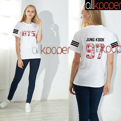 KPOP BTS Tshirt IN Bloom Jimin T-shirt Bangtan Boys JUNGKOOK Tee SUGA V J-Hope