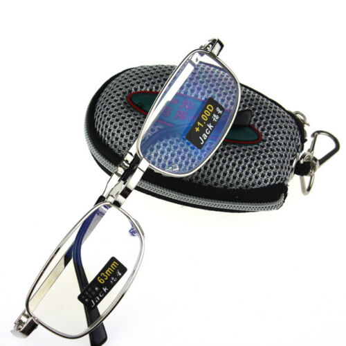 HOT Metal Frame Folding Reading Glasses + Case +1.0 +1.5 +2.0 +2.5 +3 +3.5 +4.0