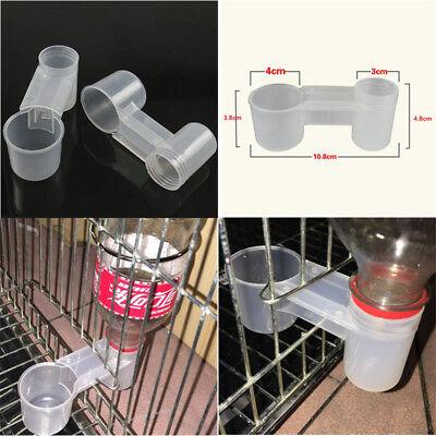 Bird Pet Water Drinker Food Feeder Clip for Lovebirds Aviary Budgie Parrot