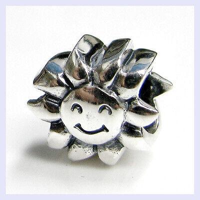 925 Sterling Silver Happy Sun Shine Day Smile Bead for European Charm Bracelet