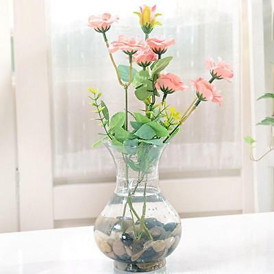 Clear Plastic Flower Plant Hanging Vase Home Office Wedding Decor Cute New](Clear Plastic Vase)