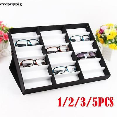 15pcs Storage Display Box Eyeglass Eyeglasses Sunglasses Organizer 18 Grid Slot