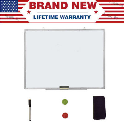 Magnetic Whiteboard Kit Office School Home Dry Erase Writing White Board 23x35