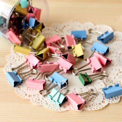 Great Paper Clip Holder Documents Metal Binder Clips Office Stationary 10pcs