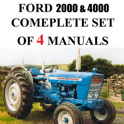 Ford 4000 2000 Series Tractor Service Parts Catalog Owners Manual 4 Manuals Cd