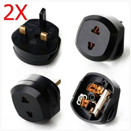 2xUniversal Shaver Plug Adaptor UK To 2 Pin Socket Plug Fuse Toothbrush Bathroom
