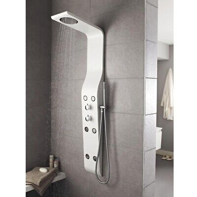 Hudson Reed Glacier White Thermostatic Shower Tower