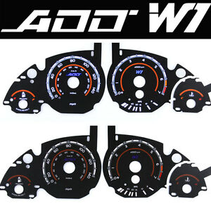 ADD W1 V1 Gauge Overlay for Bmw cluster gauge E39, 5, 7 Series E38, X5 E53 E60