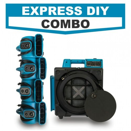 Water Damage Restoration Industrial HEPA 1 x Air Scrubber, 4 x Air Movers
