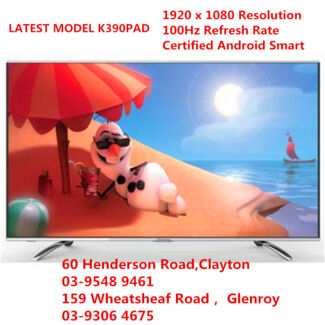 "HISENSE 55k390pad 55"" 3D SMART TV ANDROID TV 100HZ FOR TWO DAYS Werribee Wyndham Area Preview"