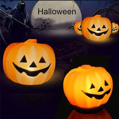 Halloween Pumpkin Light Party Lantern Decoration Props LED Plastic Pumpkins New