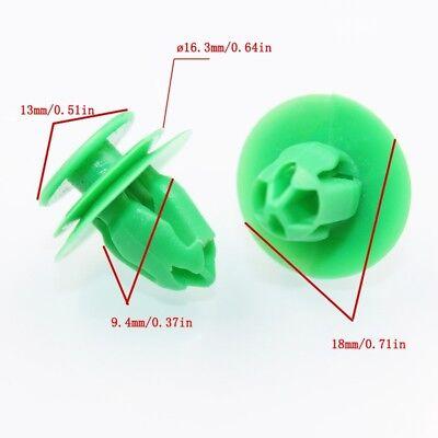 20 Car Door Panel Interior Trim Retainer Green Clip For Honda 91560-SZW-003