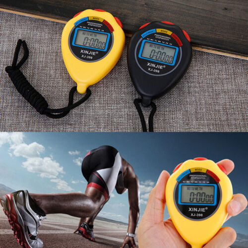 Chronograph Plastic Digital LCD Timer Stopwatch Sport Counter Handheld Stopwatch