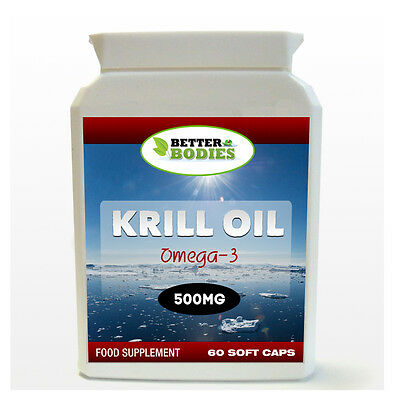 Better Bodies Krill Oil Superba 500mg 60 Capsules HIGH Quality UK