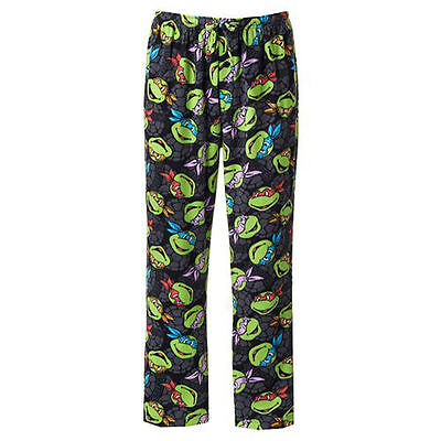 Teenage Mutant Ninja Turtles Black Pajama Pants Sleep Lounge PJ's S  M (Black Ninja Pants)