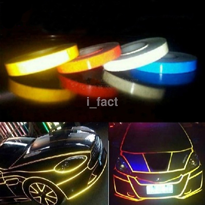1* Car-styling Night Magic Reflective Tape Automotive Body Motorcycle Decoration