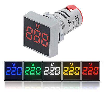 22mm Digital Display Voltmeter Lights Ac 20v-500v Indicator Led Voltage Monitor