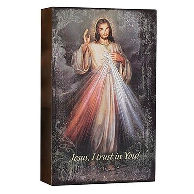 - Divine Mercy Wood Sign Wall Art (D3048) Christian Plaque 8 Inches