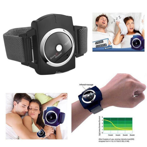 Hot Snore Stopper Watch Anti Snore Wrist Band Bracelet Device Sleep Snoring Aid