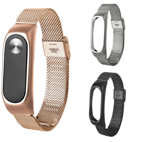 For Xiaomi Mi Band 2 OEM Bracelet Stainles Steel Watch Band Strap Wrist 3 Colors