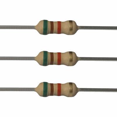 10 X 5.1k Ohm Carbon Film Resistors - 14 Watt - 5 - 5k1 - Fast Usa Shipping