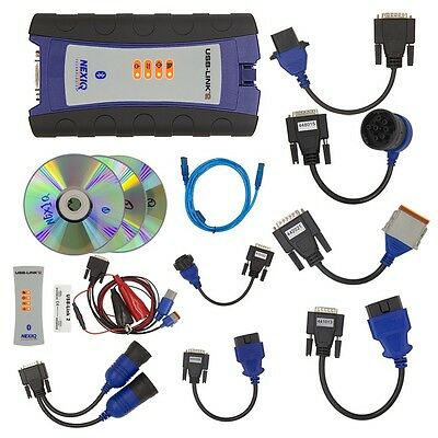 Nexiq USB- Link 2 Interface Adapter - Full Diagnostic Kit Include All Cables !