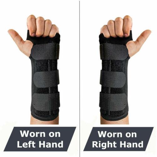 2 Wrist Hand Brace Carpal Tunnel Support Splint Band Night S