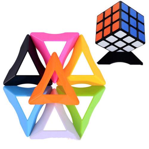 как выглядит 3Pcs/Lot Universal Triangle Magic Cube Puzzle Stand Base Holder For Cube фото