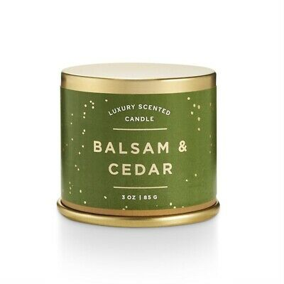 Illume Balsam & Cedar Demi Tin Candle 3 oz.