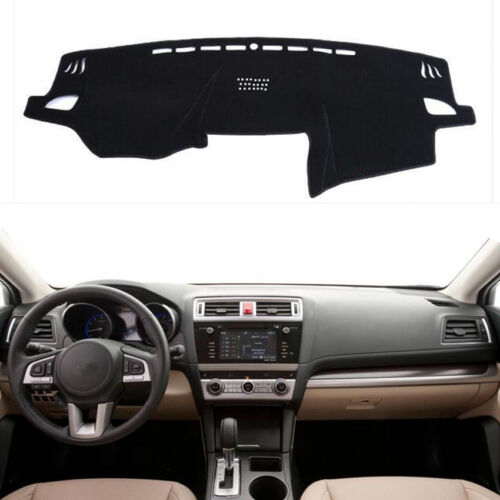 Black Dashboard Cover Dashmat Dash Mat Pad FOR 2015-2018 SUBARU OUTBACK