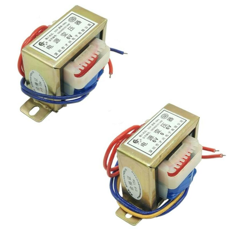 1-100W EI Power Transformer 220VAC TO 6V/9V/12V/15V/18V/24VAC Single/Dual Output