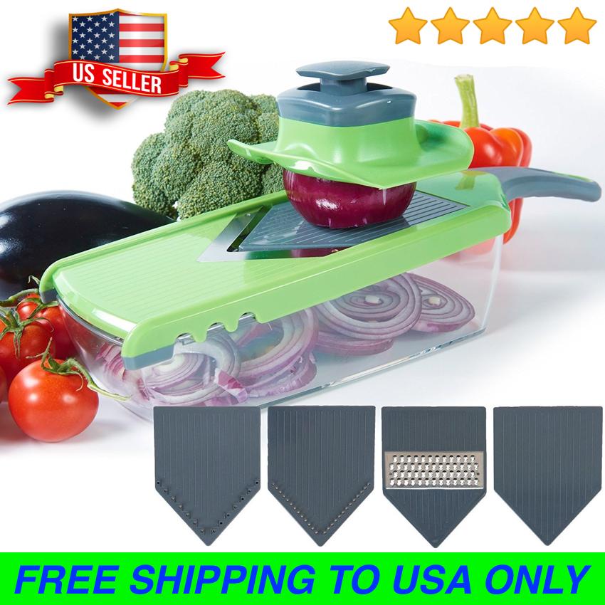 Upgraded | Mandoline V-Slicer - 6 Pieces Set - Food Slicer -