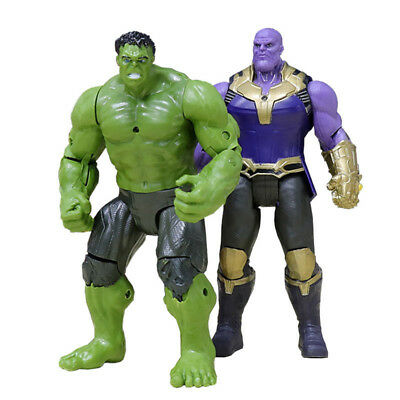 2Pcs 6 Marvel Avengers 3Infinity War Movable Joints Thanos Hulk Action Figures