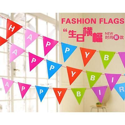 3M Long HAPPY BIRTHDAY Party White and Red Paper Bunting Flag Letter Decoration}