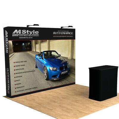 10ft Pop Up Stand Trade Show Display Backdrop Wall Exhibition With Custom Print