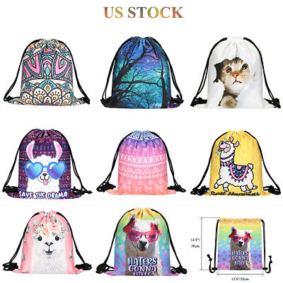 String Drawstring Backpack Cinch Sack Gym Tote Bag Sport Pack School Mens Womens - Cinch Backpack