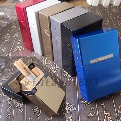 Aluminum Metal Cigar Cigarette Box Holder Tobacco Storage Case Gift