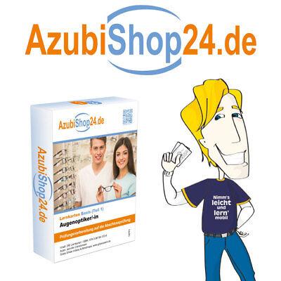 Prüfungsvorbereitung Augenoptiker /in Teil 1 Prüfung Lernkarten Retoure