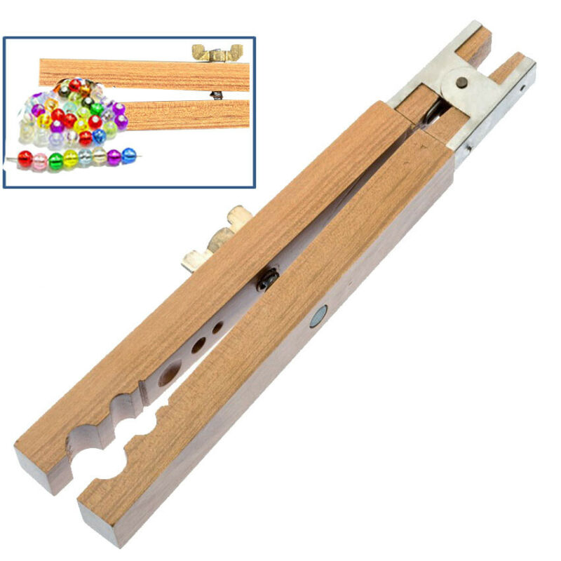 """7"""" 6 Slots Wooden Bead Holder with Lock Nut Holds Beads For Drilling Reaming"""