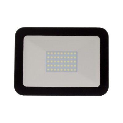 Black External Garden 10W LED Floodlight Bright White 6000K Outdoor Light IP65