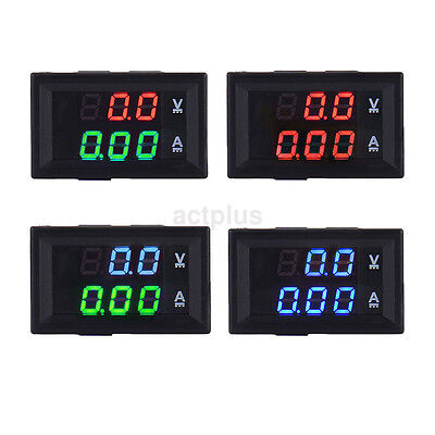 Dc 100v 10a Color Led Digital Volt Amp Current Voltage Meter Voltmeter Ammeter U
