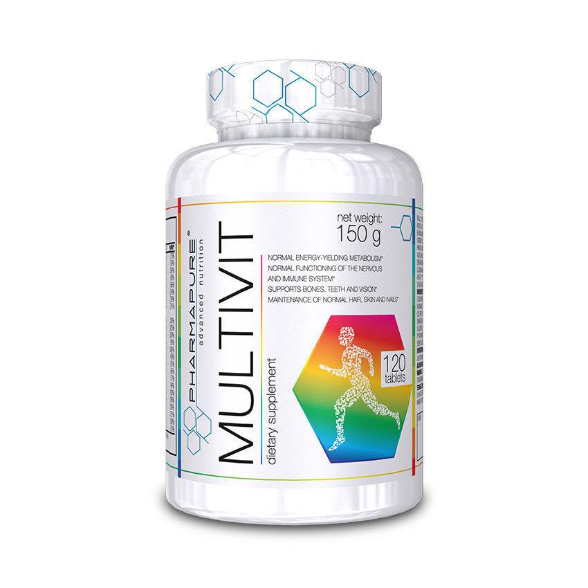 Vitamine Multivitaminico e Minerali Pharmapure Multivit 120 Cps