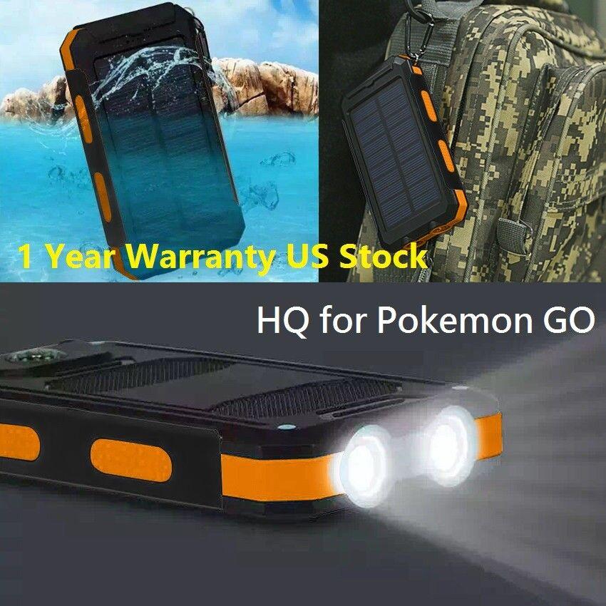 USA Waterproof 900000mAh 2 USB Portable Solar Battery Charge