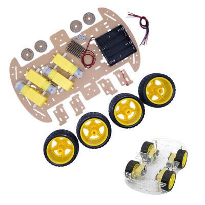 Diy 4wd Smart Robot Car Chassis Magneto Speed Encoder For Arduino 51 Robot Kits