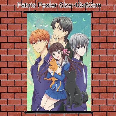- Cloth Poster Wall Scroll Anime Fruits Basket Tohru Honda Soma Hatori 60x40cm