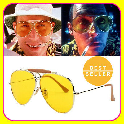 Fear And Loathing In Las Vegas Sunglasses Yellow Amber Tinted Lens Glasses (Fear And Loathing In Las Vegas Glasses)