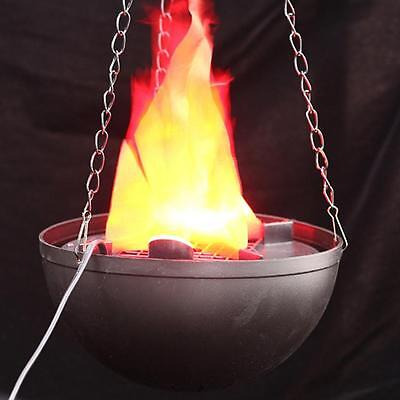 LED Hanging Fake Flame Lamp Torch Light Fire Pot Bowl Halloween Prop Decors!!](Fake Fire Halloween Prop)