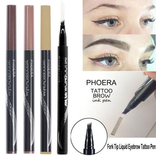 4 Heads Sketch Eyebrow Pencil Fork tip Eyebrow Tattoo Pen Waterproof Eyebrow